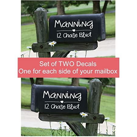 Personalized mailbox Whimsical Mailbox Decal House decal Address Monogram Script Font Decal Mailbox Decal