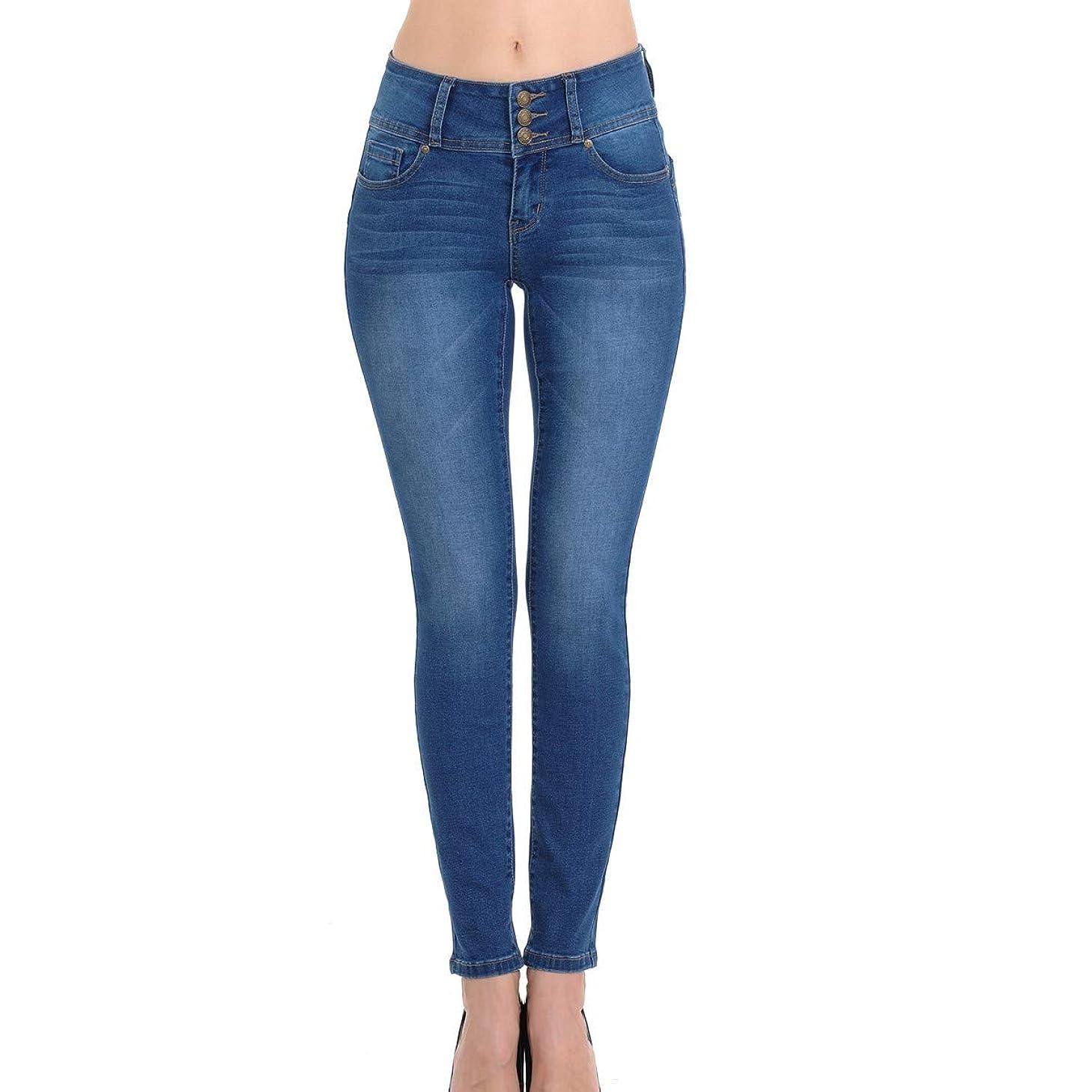 Wax Women's Juniors Body Flattering Mid Rise Skinny Jeans