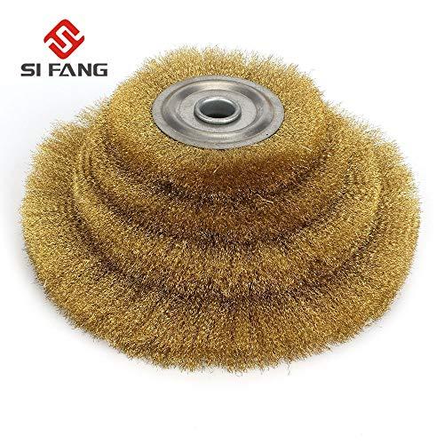 Review Of Xucus 100-250mm Flat Steel Wire Wheel Brush metal derusting wood grinding polishing Tools ...