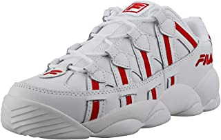Men's Spaghetti Low Fashion Sneakers White Red/White