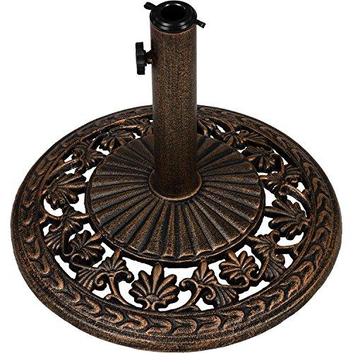 Maxstore Sonnenschirmständer aus Gusseisen, 12kg, Farbe: Bronze