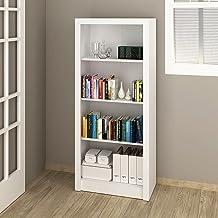 Tecnomobili Bookcase, White, 138 x 31.5 x 60 cm