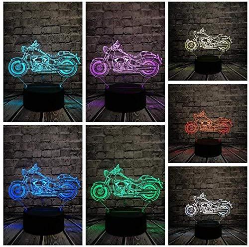 Nachtlichter Retro 3D LED Glühbirne Motorrad Tisch Nachtlicht RGB Illusion Visuelle Schreibtischlampe Multicolor Change Lighting Home