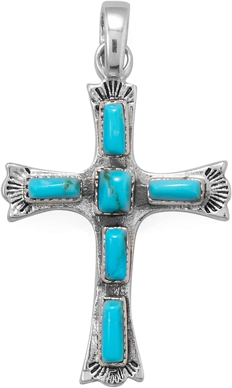 Reconstituted Turquoise Al All items in the store sold out. Cross Rectangle Sterling Silver Stones