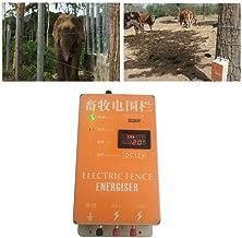 10KM Cl/ôture /électrique cl/ôture /électrique solaire pour Animaux Cl/ôture /Électrique Contr/ôleur de Vache Moutons Cheval Cerf Ours Cochon Ch/èvre Chien XSD270B