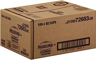 Kraft Philadelphia Strawberry Cream Cheese - Cup, 1 Ounce -- 100 per case.
