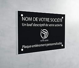 Professionele PVC-plaat, personaliseerbaar, 30 x 20 cm, verkrijgbaar in 21 kleuren (zwart)