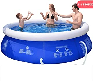 LJMG Swimming Pools Inflatable Pools for Kids and Adults Household Inflatable Swimming Pool, Outdoor Folding Swimming Equipment, Children's Garden Paddling Pool (Color : Blue, Size : 6FT2.4FT)