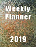 Weekly Planner 2019: Blue Splatter Planner|Notes|Agenda|To Do|8.5x11