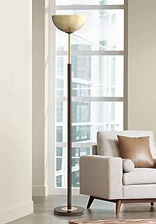 Toledo Light Blaster Modern Torchiere Floor Lamp Oil Rubbed Bronze and Warm Antique Brass for Living Room Bedroom Office Uplight - Possini Euro Design