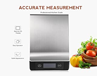 Stainless Steel 15KG/1G Portable Balance Digital Kitchen Scale With LCD Electronic Postal Platform Baking Diet Food Weight