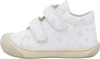 Naturino Cocoon VL-Petites Chaussures Premiers Pas en Cuir Nappa pailleté Blanc 21