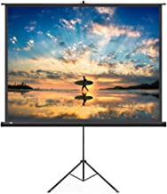 Projector Screen with Stand, TaoTronics 100 Inch 4:3 Projection Pull-Up Indoor Movie Screen with Wrinkle-Free Design (Easy to Clean, 1.1 Gain, 160° Viewing Angle & Includes a Carry Bag) (Renewed)