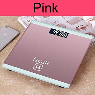 CS-YZC Electronic Scales Scales Bathroom Scales Household Floor Weighing Machine Body Scales 4 Color Smart Balance 180kg durable (Color : Pink) scales for body weight (Color : Pink)