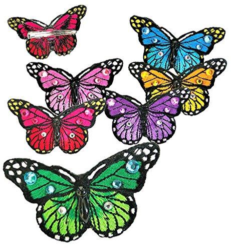 KarnevalsTeufel Schmetterling-Haarclip Steinen, Feen, Haaraccessoire, Haarschmuck, Hochzeit, Spange, Haarklammer