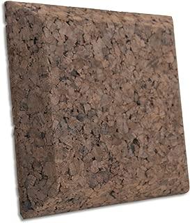 JOCAVI ECOiso QuadCork QCK004 Sound Absorbing & Soundproofing Tiles, Natural Dark Brown Cork, Professional Noise Deadening and Anti-Vibration Insulation, 9.8