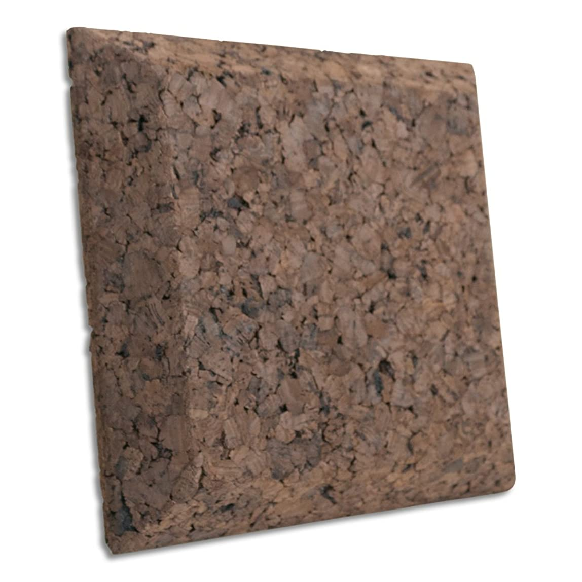 JOCAVI ECOiso QuadCork QCK004 Sound Absorbing & Soundproofing Tiles, Natural Dark Brown Cork, Professional Noise Deadening and Anti-Vibration Insulation, 9.8