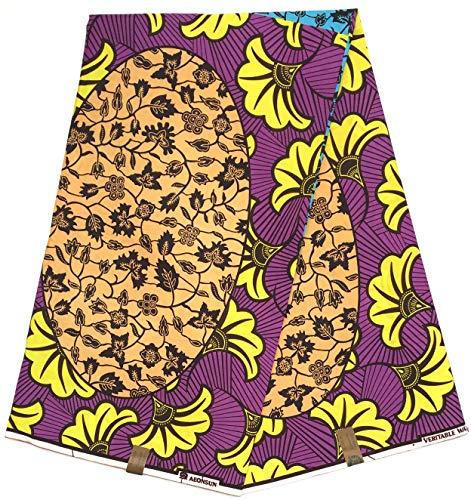 HITARGET Wax Pagne Tissu Africain Collection Original 6 Yards Cire imprimé Top qualité 100% Pur Coton réf SF