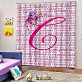 WAFJJ Cortina 3D De Dormitorio Flores Rosadas Adecuado para Dormitorio Sala De Estar Habitación Infantil Cortinas Opacas