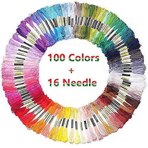 Hilos de bordado de colores arco iris para pulseras de la amistad, manualidades de punto de cruz, hilos de bordado, hilo de algodón, hilo de bordar a mano, cuenta £¬ ¬ aguja de bordado gratis
