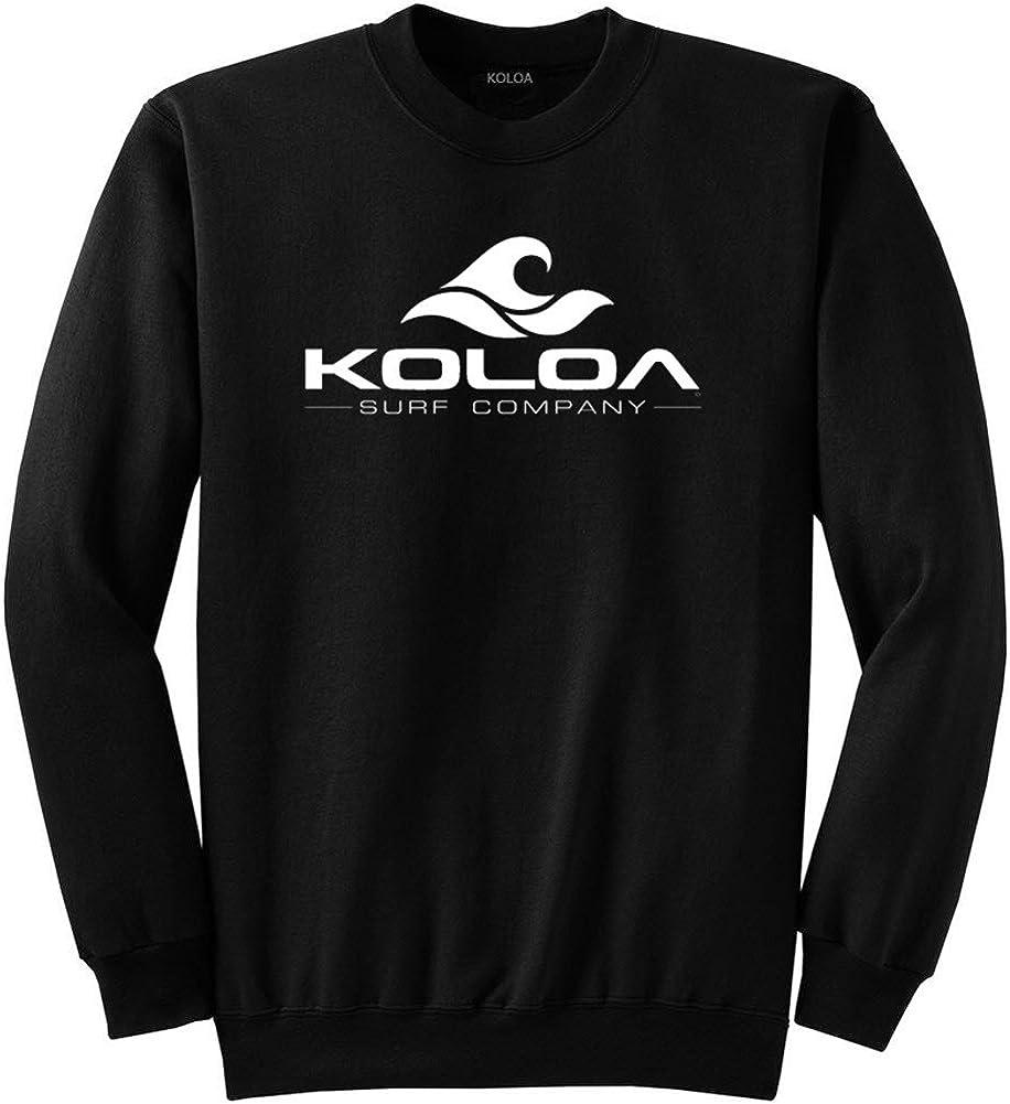 Koloa Surf Classic Wave Heavyweight Tall Crewneck Sweatshirts. LT-4XLT