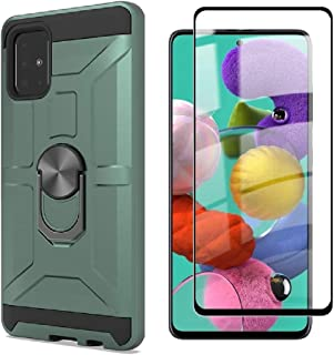 Cuoqing Samsung Galaxy A51-fodral, A51-fodral, med 1 skärmskydd, silikon stötsäkert hårt skyddande telefonskydd för Samsun...