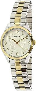 ساعة كوارتز للنساء من تايمكس، عرض انالوج وسوار ستانلس ستيل TW2T45500