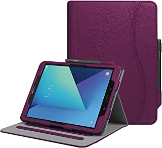 Fintie Case for Samsung Galaxy Tab S3 9.7, [Corner Protection] Multi-Angle Viewing Stand Cover Packet with S Pen Protective Holder Auto Sleep/Wake for Tab S3 9.7(SM-T820/T825/T827), Purple