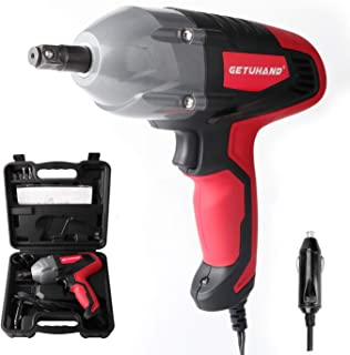 GETUHAND Electric Impact Wrench 1/2 Inch & 12 Volt 400N.M 300ft-lbs Max Torque with 1/2