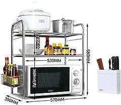Chen Hornos de microondas Estanterías Cocina Horno de microondas Rack Admission Landing Suministros de cocina Horno Rack