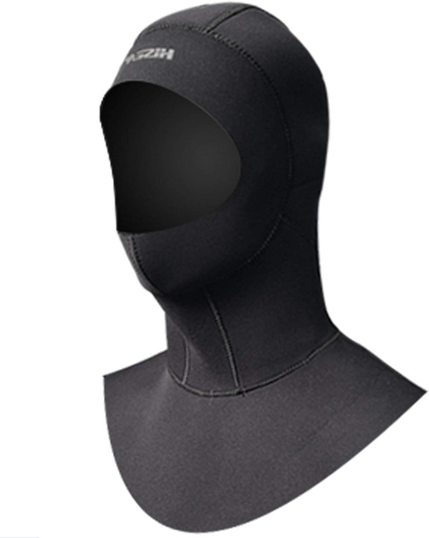 5mm Neoprene Waterproof Scuba Diving Hat Snorkeling Swim Face Mask Hood Cap US