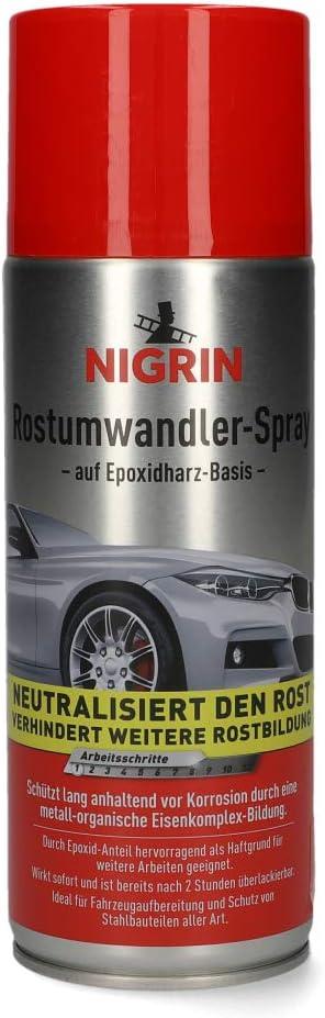 Nigrin 74107 Rostumwandler Spray 400 Ml Korrosionsschutz Lack Mit Rostumwandelnden Eigenschaften Langanhaltender Korrosionsschutz Auto