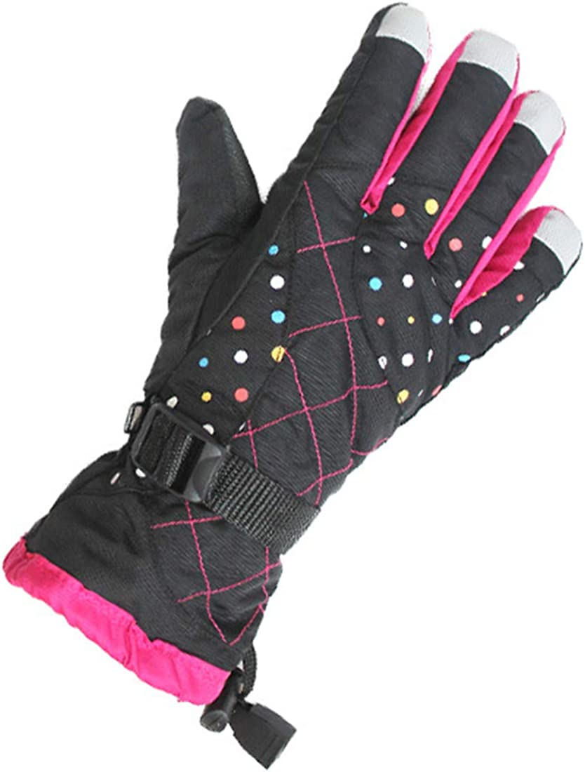 YueLian Women's Warm Lining Cold Weather Skiing Waterproof Cold Weather Gloves