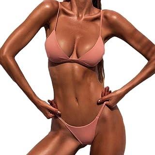 comprar comparacion Bañador Mujer 2019 Tops de Bikini Trajes de Baño Tanga Triángulo Suave Acolchado Tops y Braguitas Conjuntos Bikinis Bañado...