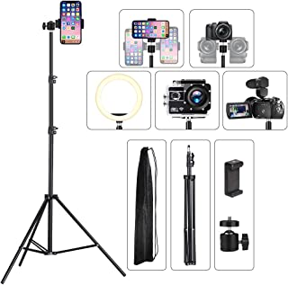 Cell Phone Tripod Video Stand 26 inch to 80 inch Adjustable for iPhone & Camera Video Recording Vlogging/Streaming/Photogr...