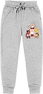 Jialohu C-apTain - Pantalones largos deportivos para niños con cordón y pantalones largos