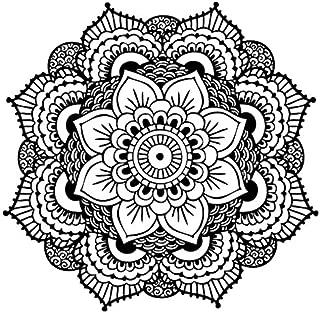 Yoga Mandala Temporary Tattoo - Realistic Body Art - Yoga Gift - Set of 2 Temporary Tattoos, 2.5