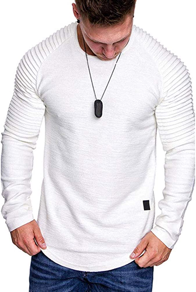 Lexiart Mens Fashion Athletic Sweatshirt Sport Pullover Shirts Solid Color Sweater Hoodie