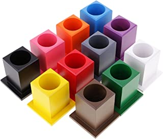 Baoblaze Preschool Training Learning Montessori Toy 11Pcs Colored Pencil Holder