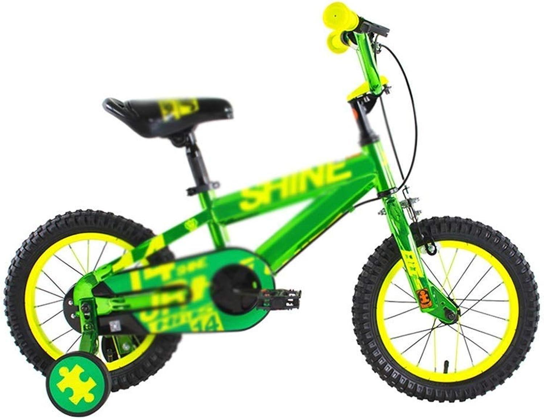 LJFYMX Bicicletta Bici per Bambini, Bicicletta per Bambini, Ragazza 12 14 16 Pollici Passeggino e stabilizzatore Pedale della Bicicletta (Dimensione   A)