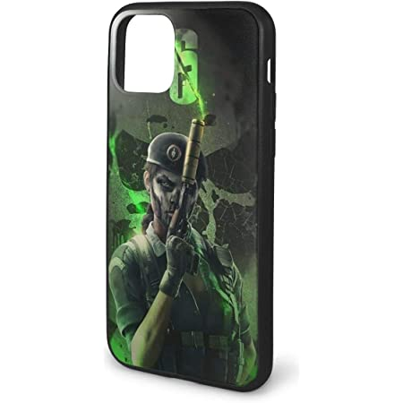 Xcxgsfam Rainbow Six Siege Caveira Phone Cases for iPhone 11 Shell Back Soft Cell Mobile Cover Case with TPU Pc Frame