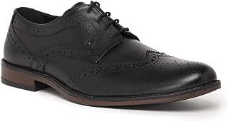 NOBLE CURVE Black Leather Derby Brogues Shoes