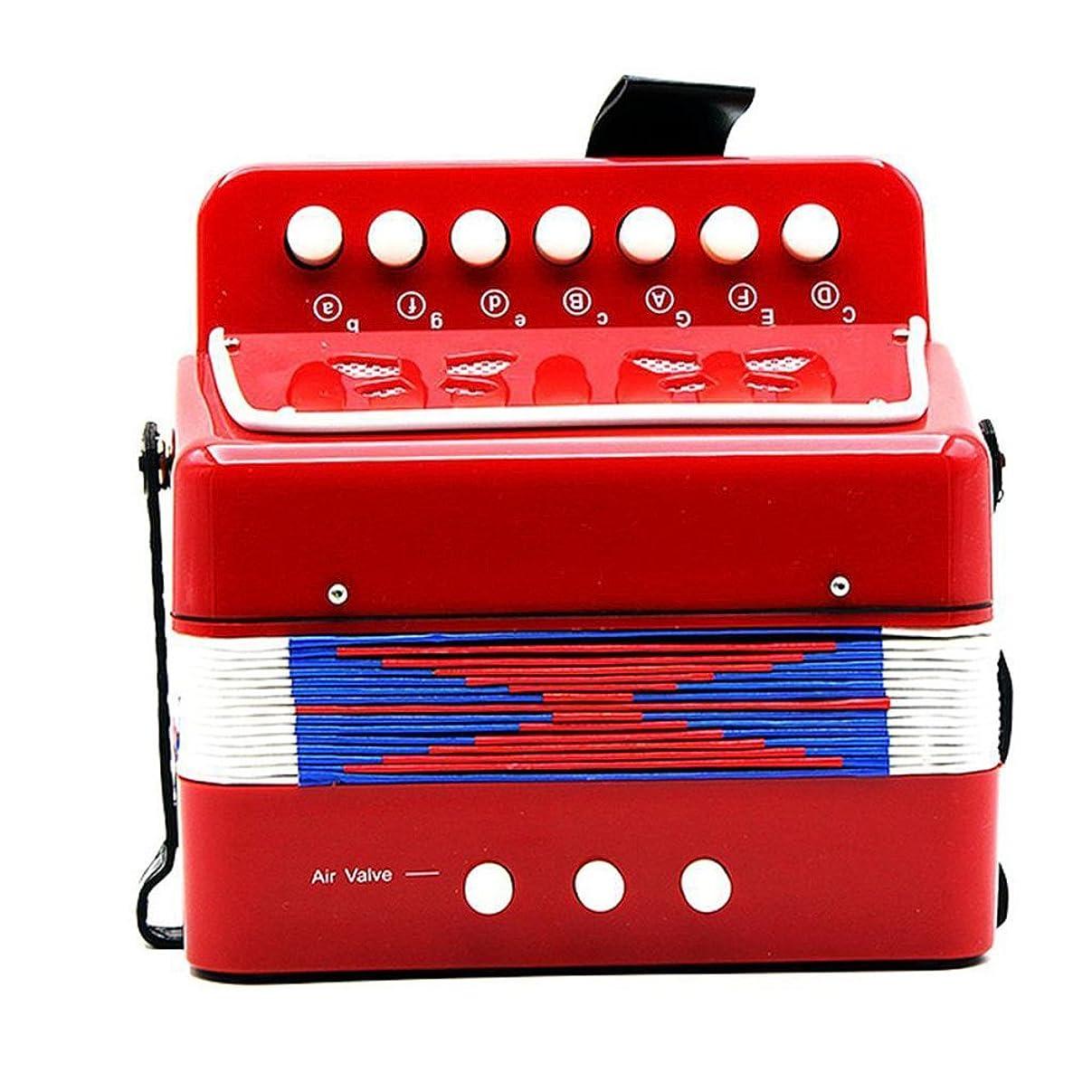 誰脚本憤るChildren 7-Key 2 Bass Mini Small Accordion Educational Instrument for Kids 子供たちのための7 - キー2ベースミニ小型アコーデオン教育器具 [並行輸入品]