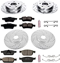 Power Stop K6350 Front & Rear Brake Kit with Drilled/Slotted Brake Rotors and Z23 Evolution Ceramic Brake Pads