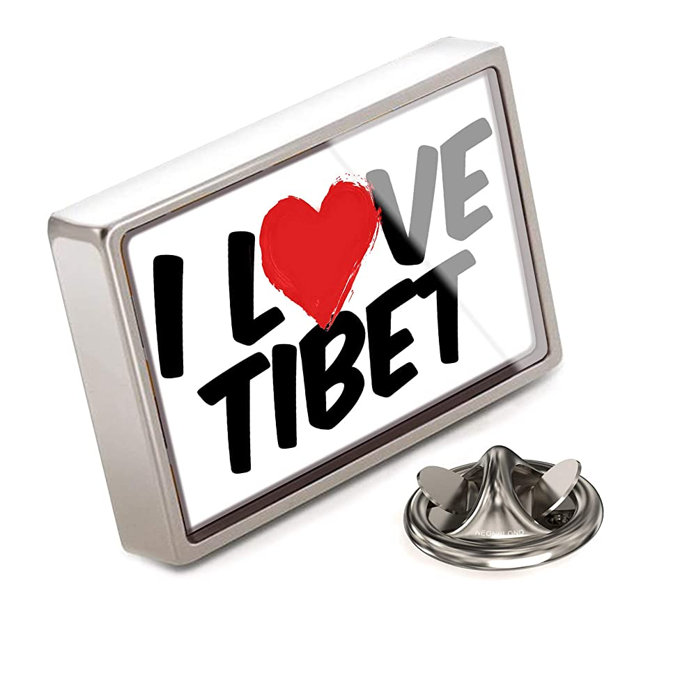 NEONBLOND Lapel Pin I Love Tibet