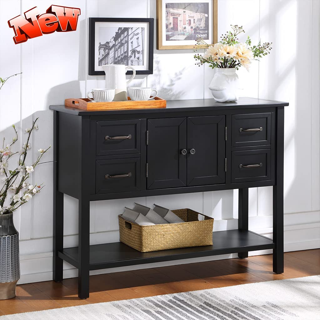 DANGRUUT Elegant Farmhouse Thicken Solid Super Special SALE held w Wood Sideboard Buffet Quantity limited