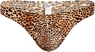 Men's Sexy Underwear Briefs Thongs Mingfa 2019 Fashion Leopard-Print Low-Waist Bulge Pouch Underpants Shorts