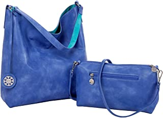 Sydney Love Reversible Hobo with inner pouch in Periwinkle/Teal