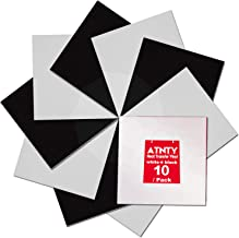 """Heat Transfer Vinyl Black and White - 12"""" x 12"""" 10 Sheets HTV Iron On for T-Shirts …"""
