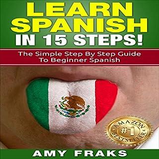 Learn Spanish in 15 Steps! audiobook cover art